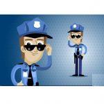 دانلود طرح وکتور کارتونی پلیس policeman cartoon character