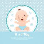دانلود طرح کارت دوش کودک baby shower card