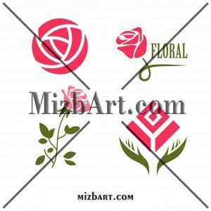دانلود وکتور لایه باز گل سرخ رز Flower rose