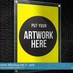 طرح لایه باز بسیار کاربردی پیش نمایش و ماک آپ پوستر