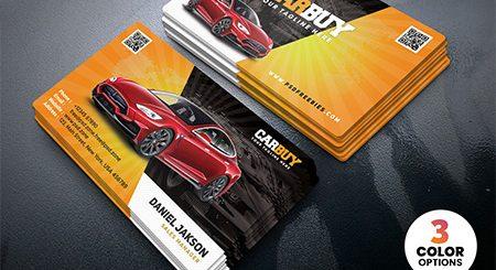 طرح لایه باز فوق العاده زیبا ازکارت ویزیت نمایندگی و نمایشگاه خودرو