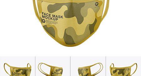 طرح لایه باز موک آپ ماسک