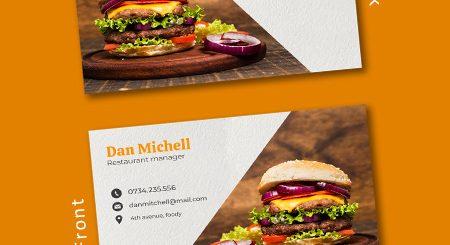 طرح کارت ویزیت زیبا برای رستوران ها و فست فود ها
