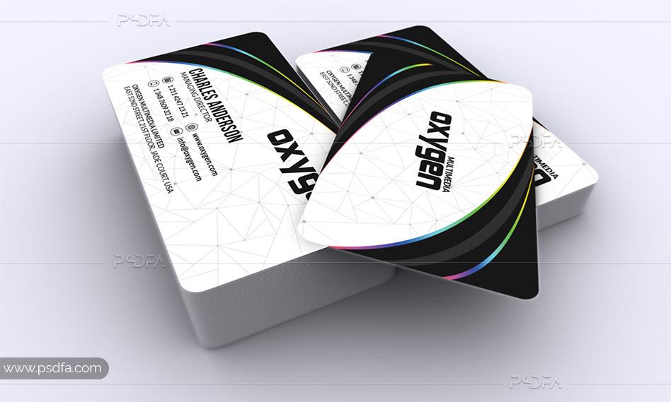 طرح لایهباز کارت ویزیت شیک و مدرن قابل ویرایش در فتوشاپ